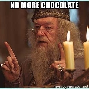 dumbledore fingers - no more chocolate
