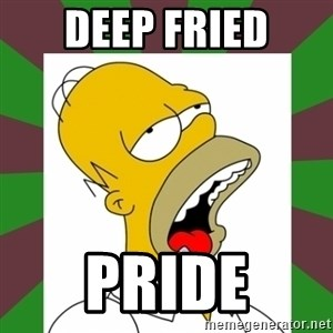 Homer drooling - Deep Fried Pride