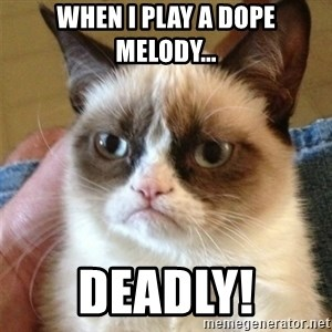 Grumpy Cat  - when i play a dope melody... deadly!