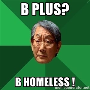 High Expectations Asian Father - B Plus? B Homeless !