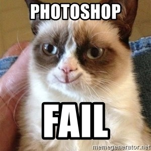 Grumpy Cat Happy Version - photoshop fail