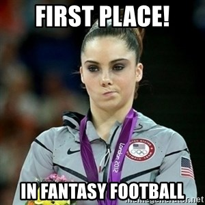 Not Impressed McKayla - First place! in fantasy football
