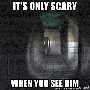 Slender game - IT'S ONLY SCARY WHEN YOU SEE HIM