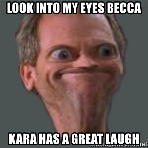 Housella ei suju - Look into my eyes Becca Kara has a great laugh