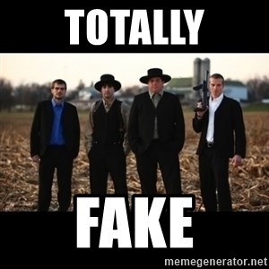 Amish Mafia - totally fake