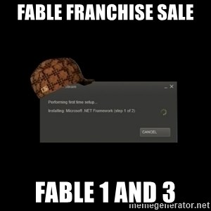 Scumbag Steam - fable franchise sale fable 1 and 3
