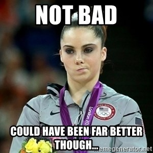 Not Impressed McKayla - NOT Bad Could have been far better though...