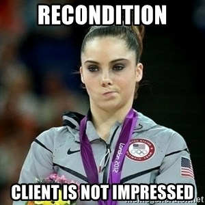 Not Impressed McKayla - Recondition client is not impressed