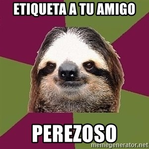 Just-Lazy-Sloth - ETIQUETA A TU AMIGO PEREZOSO