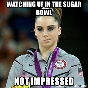 Not Impressed McKayla - Watching UF in the Sugar Bowl Not impressed