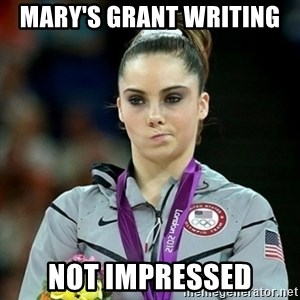 Not Impressed McKayla - mary's grant writing  Not impressed