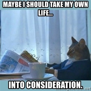 rich cat  - maybe i should take my own life... into consideration.
