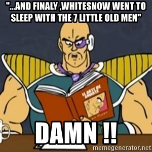 "El Arte de Amarte por Nappa - ""...and finaly ,whitesnow went to sleep with the 7 little old men""  damn !!"
