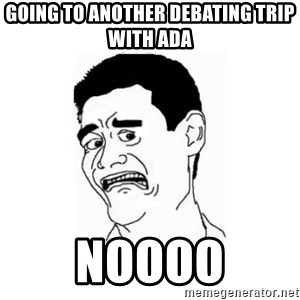 Yao Ming Scared - GOING TO ANOTHER DEBATING TRIP WITH ADA noooo