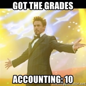 Tony Stark Expo - got the grades accounting: 10
