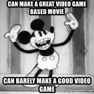 WTFDISNEY - Can make a great video game based movie Can barely make a good video game
