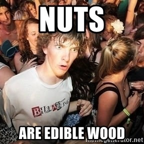 Sudden Realization Ralph - Nuts are edible wood