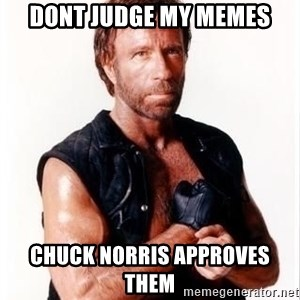 Chuck Norris Meme - dont judge my memes chuck norris approves them