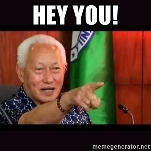 ALFREDO LIM MEME - HEY YOU!