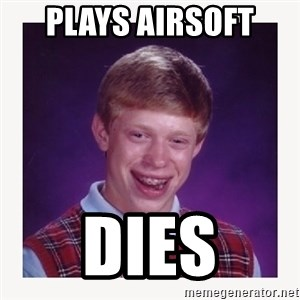 nerdy kid lolz - PLAYS AIRSOFT  DIES