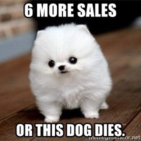 more meat for my duck - 6 more sales or this dog dies.