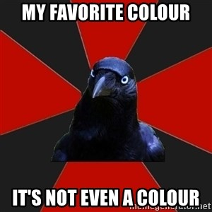 Gothiccrow - my favorite colour it's not even a colour