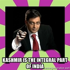 Arnab Goswami - Kashmir is the integral part of india