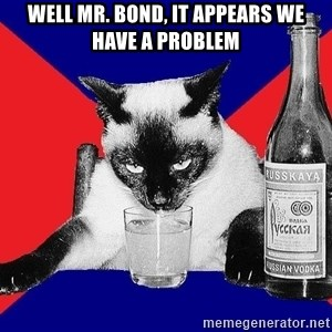 Alco-cat - WELL MR. BOND, IT APPEARS WE HAVE A PROBLEM