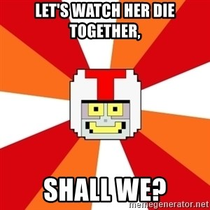 Turbo-tastic - let's watch her die together, shall we?