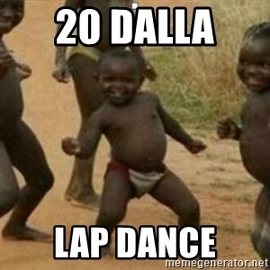 Black Kid - 20 dalla  lap dance
