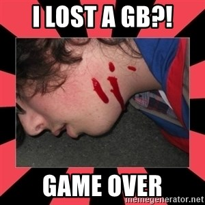 Dead Explorer - I lost a gb?! Game over