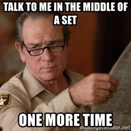 Tommy Lee Jones  - talk to me in the middle of a set  one more time