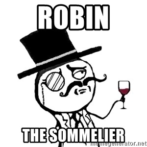 Gentleman with wine - Robin The sommelier