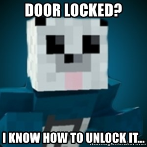 R-Panda - Door Locked? I know how to unlock it...
