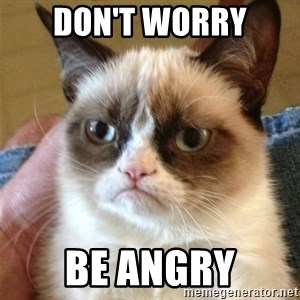 Grumpy Cat  - Don't worry Be Angry