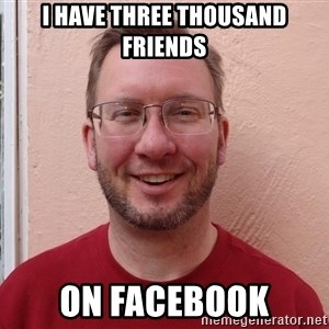 Asshole Christian missionary - i have three thousand friends on facebook