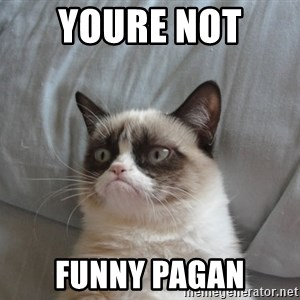 moody cat - Youre not  Funny paGan