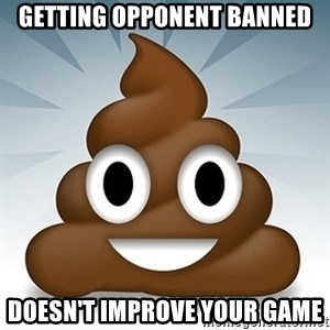 Facebook :poop: emoticon - getting opponent banned doesn't improve your game