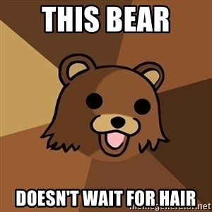 Pedobear - This Bear  Doesn't wait for hair