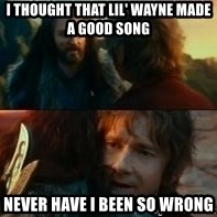 Never Have I Been So Wrong - I thought that lil' wayne made a good song never have i been so wrong