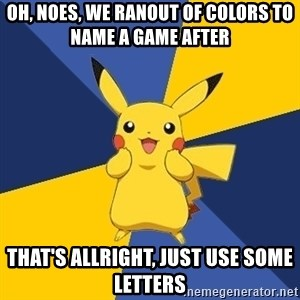 Pokemon Logic  - oh, noes, we ranout of colors to name a game after that's allright, just use some letters