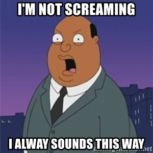 ollie williams - i'm not screaming i alway sounds this way