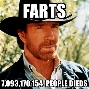 Chuck Norris Pwns - farts 7,093,170,154  people dieds
