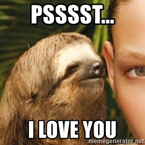 Whispering sloth - psssst... i love you