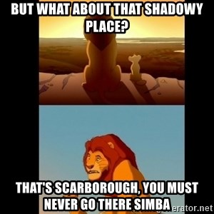 Lion King Shadowy Place - But what about that shAdowy place? That's Scarborough, you mUst never go there simba