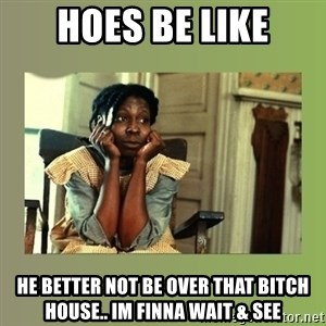 Hoes Be Like  - Hoes Be Like He better not be over that bitch house.. im finna wait & see