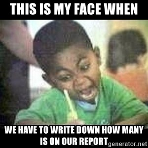 Black kid coloring - this is my face when   we have to write down how many is on our report