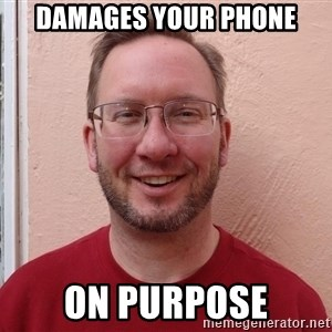 Asshole Christian missionary - damages your phone on purpose