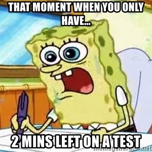 Spongebob What I Learned In Boating School Is - That moment when you only have... 2 mins left on a test