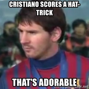 Messi Dont Understand - CRISTIANO SCORES A HAT-TRICK That's adorable